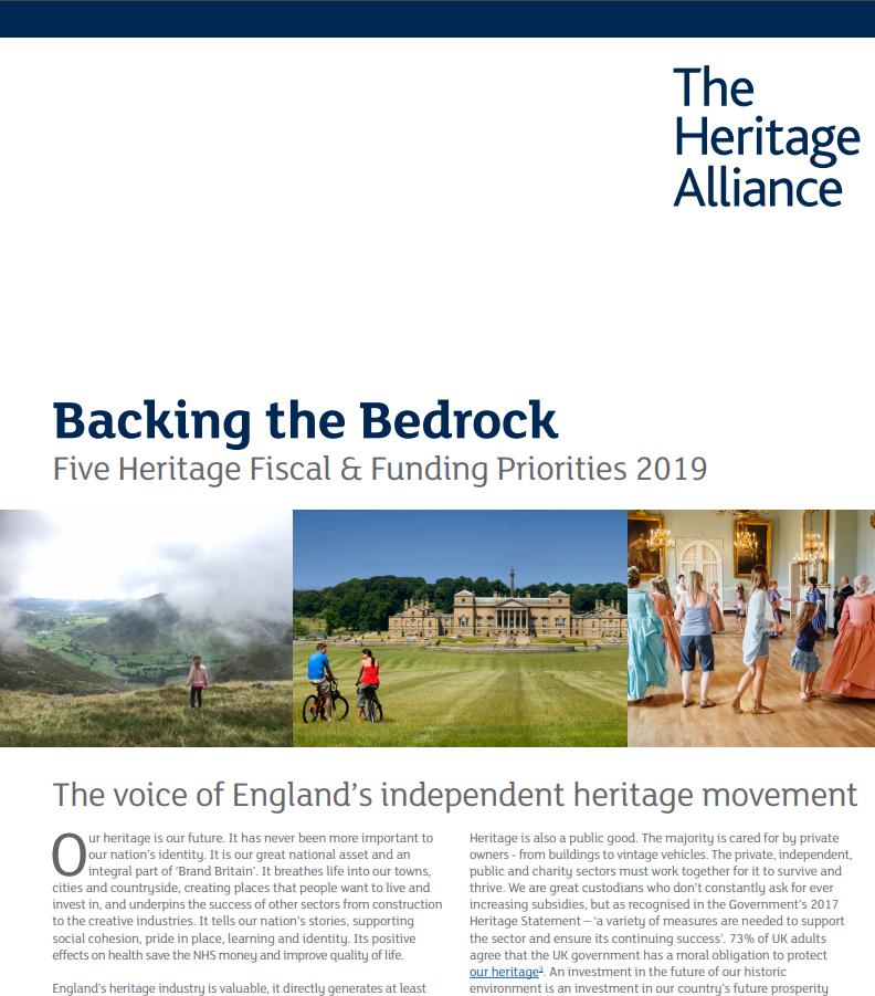 Heritage Alliance Manifesto