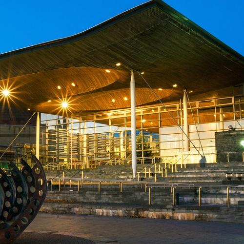The Senedd Building in Cardiff