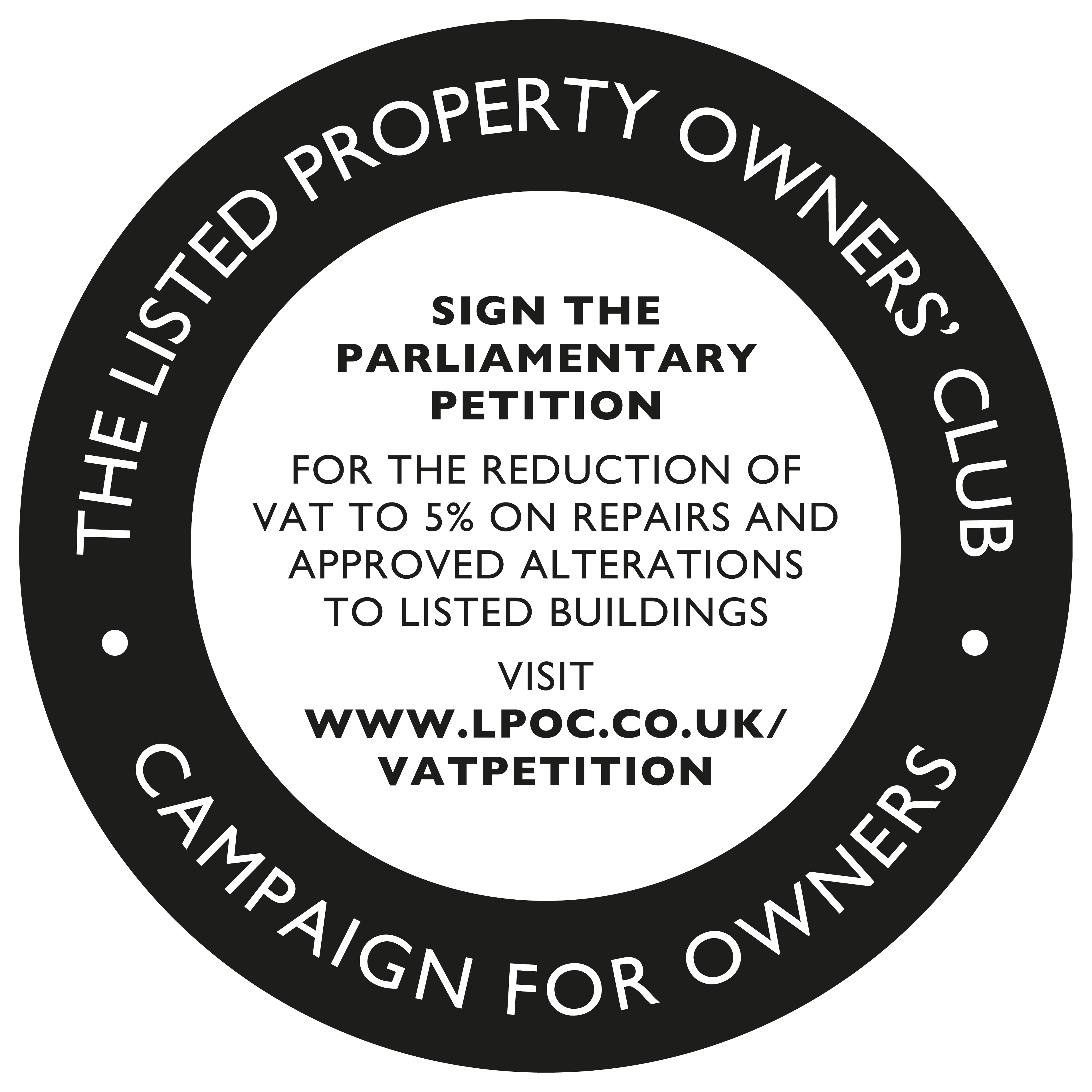 Click the logo to sign the petition